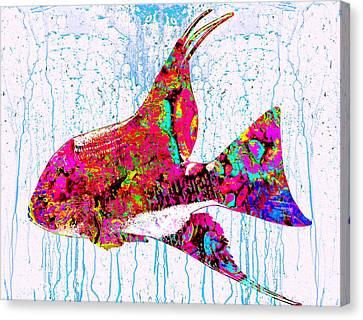 Shells Canvas Print - Underwater.fish. by Elena Kosvincheva
