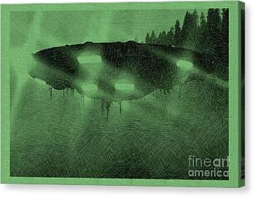 Bizarre Canvas Print - Unidentified Flying Object by Raphael Terra