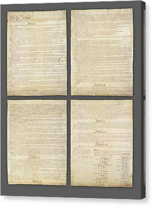 United States Constitution, Usa Canvas Print