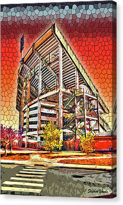 University Of Maryland - Byrd Stadium Canvas Print by Stephen Younts