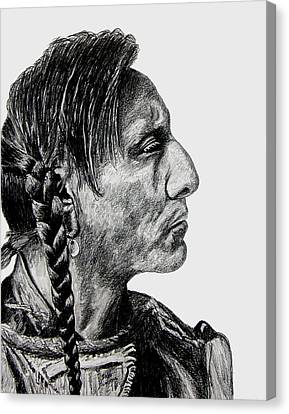 Indian Portraits Canvas Print - Unknown Indian II by Stan Hamilton