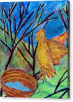 Cardboard Canvas Print - Watchful Waiting by Ava Shelton