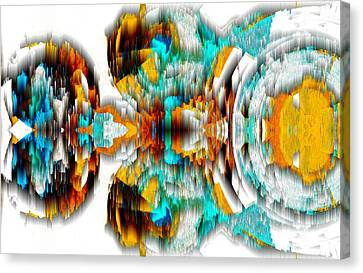 Canvas Print featuring the digital art Untitled Series 992.042212 -c by Kris Haas
