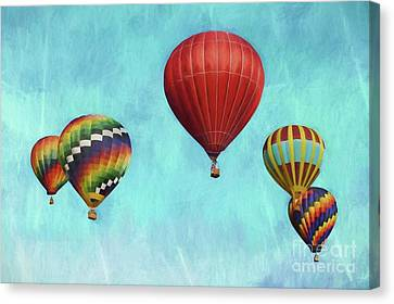 Canvas Print featuring the photograph Up Up And Away 2 by Benanne Stiens