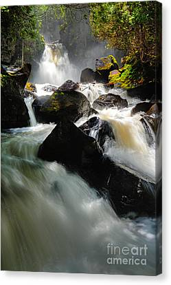Upper Johnson Falls Canvas Print by Larry Ricker