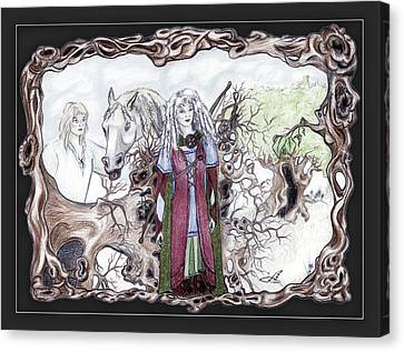 Uprooted Forest Druids - The Celtic Dark Ages Canvas Print