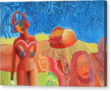 Urunthrumymindlikeawaterfallpoem Canvas Print by Richard Heley