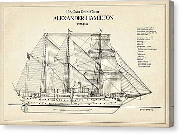 U.s. Coast Guard Cutter Alexander Hamilton Canvas Print by Jose Elias - Sofia Pereira