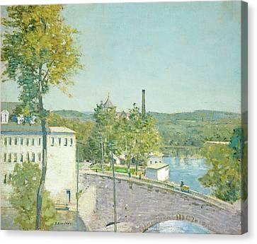 U.s. Thread Company Mills, Willimantic, Connecticut Canvas Print