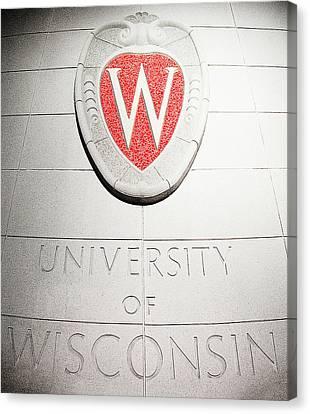 University Of Wisconsin Canvas Print - Uw Crest by Todd Klassy