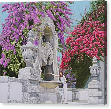 Canvas Print featuring the mixed media Vacation In Portugal by Constance Drescher