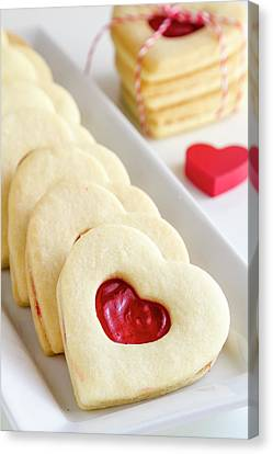 Canvas Print featuring the photograph Valentines Day Treats by Teri Virbickis