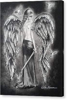 Valkyrie Angel Canvas Print by Carla Carson