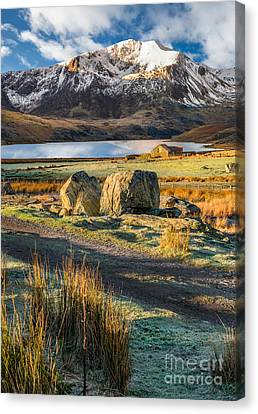 Cwm Idwal Canvas Print - Valley Sunlight by Adrian Evans