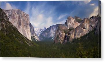 Canvas Print featuring the photograph Valley View by Lana Trussell