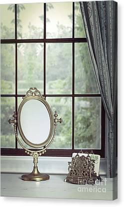 Vanity Mirror In The Window Canvas Print