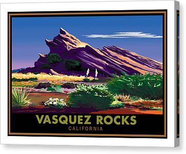 Vasquez Rocks Canvas Print by Steve Beaumont