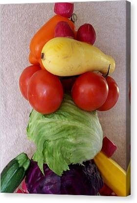 Veggie Tower Canvas Print