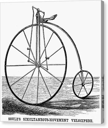 Velocipede, 1869 Canvas Print by Granger