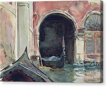 Venetian Canal Canvas Print by John Singer Sargent