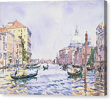 Venice - Afternoon On The Grand Canal Canvas Print