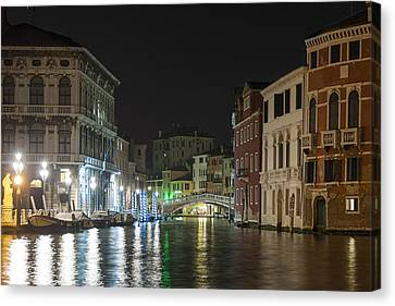 Canvas Print featuring the photograph Romantic Venice  by Silvia Bruno