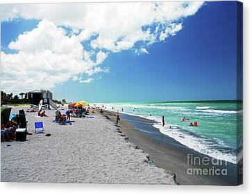 Canvas Print featuring the photograph Venice Beach by Gary Wonning