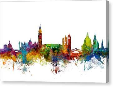 Venice Italy Skyline Canvas Print by Michael Tompsett