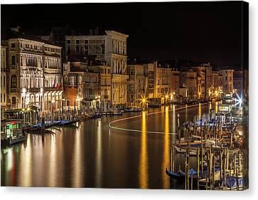 Venice View From Rialto Bridge Canvas Print