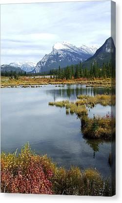 Vermillion Lakes Canvas Print by Tiffany Vest