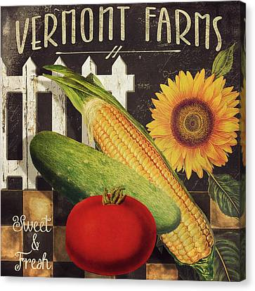 Vermont Farms Vegetables Canvas Print