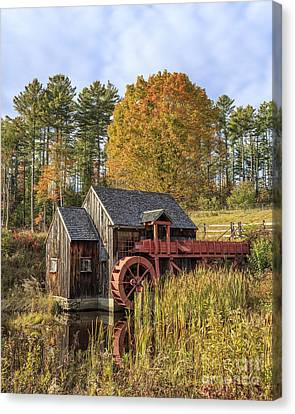 Canvas Print featuring the photograph Vermont Grist Mill by Edward Fielding