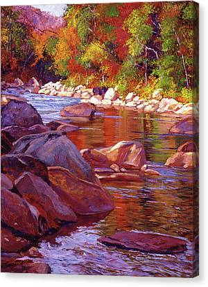 Vermont River Canvas Print by David Lloyd Glover