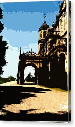 Viceregal Lodge Canvas Print by Padamvir Singh