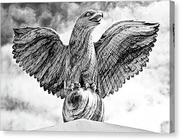 Canvas Print featuring the photograph Victorious Eagle Of Marble by Yurix Sardinelly