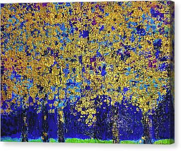 Vienna Woods Gold Canvas Print