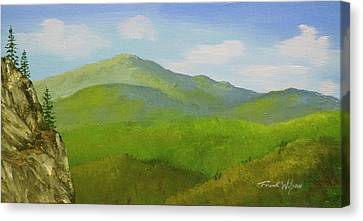 View From The Bluffs Canvas Print by Frank Wilson