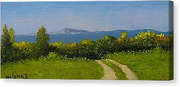 Canvas Print featuring the painting View From The Rim by Fred Wilson