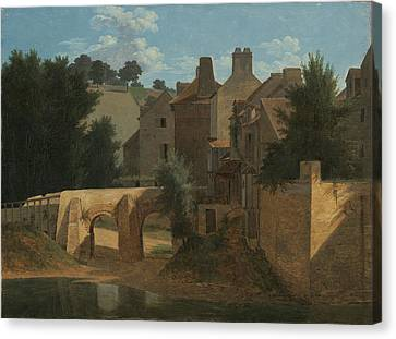 View In The Ile De France Canvas Print by Jean-Victor Bertin
