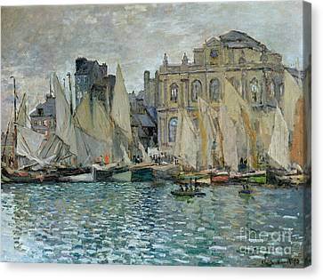 View Of Le Havre Canvas Print by Claude Monet