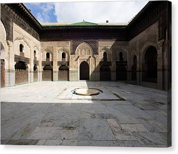 View Of Part Of Cloister And Courtyard Canvas Print by Panoramic Images