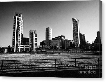 View Of The West Tower And Liverpool Skyline From Liverpool Waters Phase One Redevelopment Princes D Canvas Print