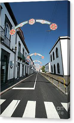 Crosswalk Canvas Print - Vila Franca Do Campo, Azores by Gaspar Avila