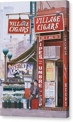 Village Cigars Canvas Print by Anthony Butera