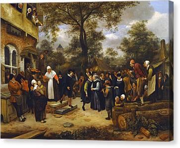 Village Wedding Canvas Print by Jan Steen