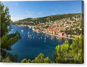 Villefranche-sur-mer And Cap De Nice On French Riviera Canvas Print by Elena Elisseeva