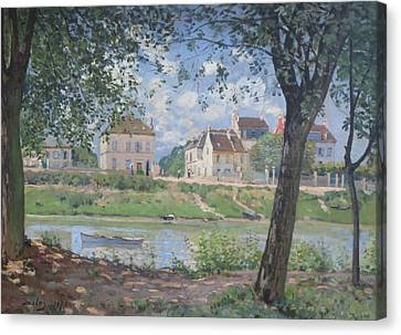 Riviere Canvas Print - Villeneuve La Garenne by Alfred Sisley