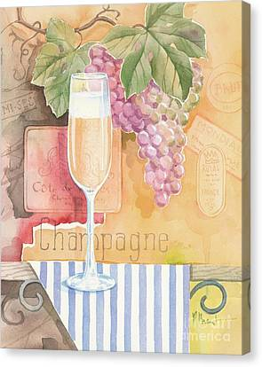 Vintage Champagne Canvas Print by Paul Brent