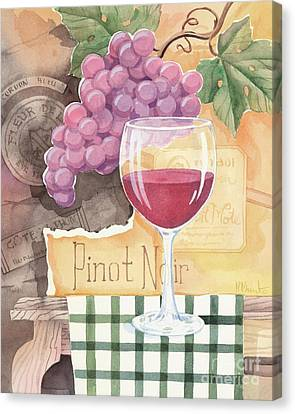 Vintage Pinot Noir Canvas Print by Paul Brent