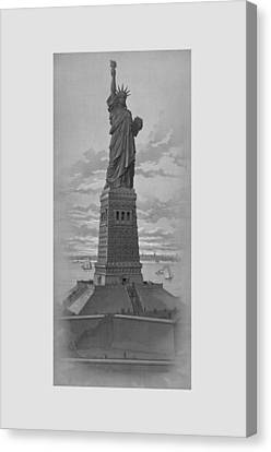Vintage Statue Of Liberty Canvas Print